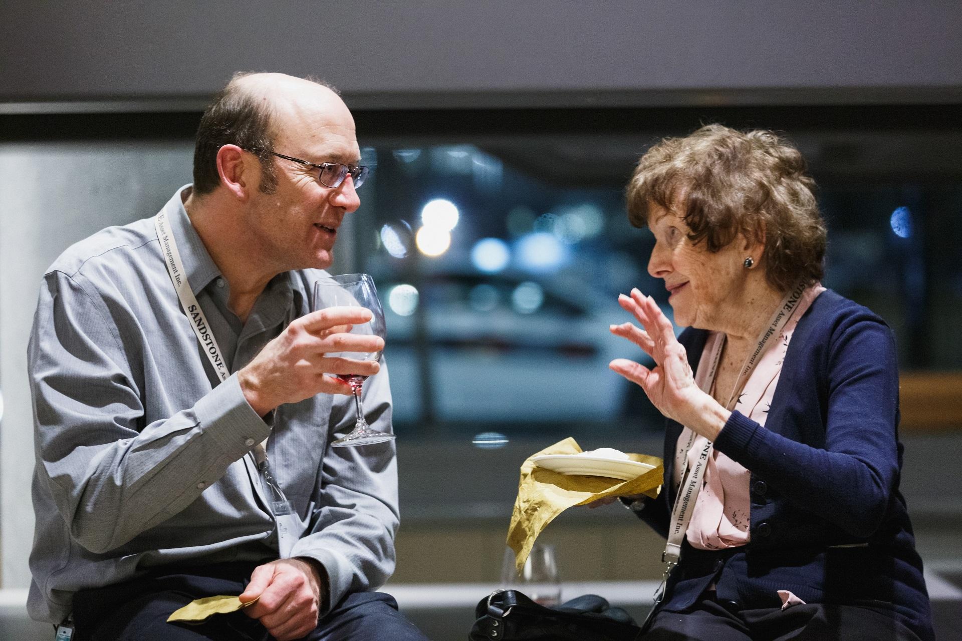 Insightful conversation between guests